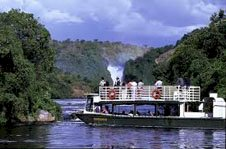 Colobus Tours boat trip at Murchison Falls