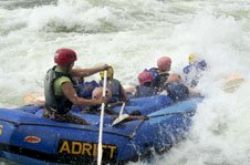 White water rafting on the River Nile with Colobus Tours