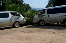 Colobus Tours' airport transfer bus