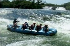 White water rafting with Colobus Tours